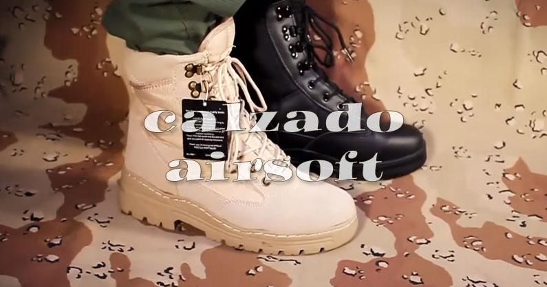 Calzado airsoft, botas, zapatos y complementos