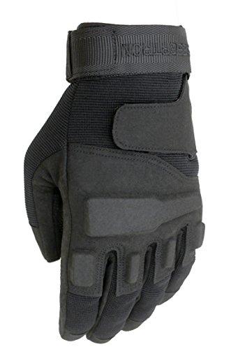 Seibertron Hombres de Negro S.O.L.A.G. Special Ops Finger Completo/Luz Guantes Asalto Táctico Guantes de Disparo Completo Dedo Combate Militar del Ejército (Negro, L)