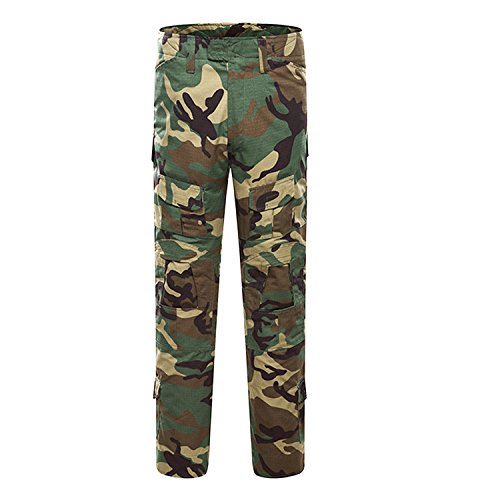 Pantalones de Airsoft, QMFIVE Pantalones de Combate de Camuflaje Camo Combat BDU Pantalones para Paintball de ejército Militar táctico