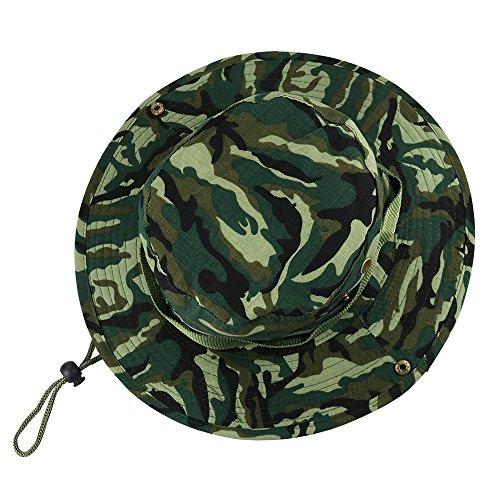 VILLAVIVI Sombrero de Pescador Camuflaje Plegable con Al Aire Libre Caza Viaje Pesca Gorro de pescador – Multicolor Selección (Verde camuflaje)