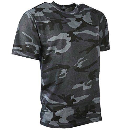 Kombat de Hombre Camiseta de Camuflaje, Hombre, Color Azul Oscuro, tamaño XL