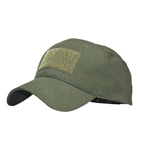 COZYJIA Gorra de béisbol, Camuflaje, Sombrero de protección Solar para Airsoft Paintball Escalada Camping Caza al Aire Libre (OD)