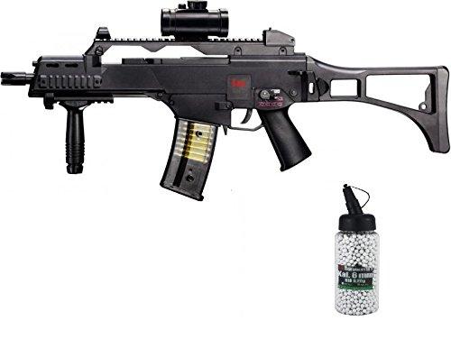 g8ds Set: HK Heckler & Koch G36C AEG Rifle de Airsoft eléctrico bio munición para airsoft (6mm, 0,20g 2000BBS