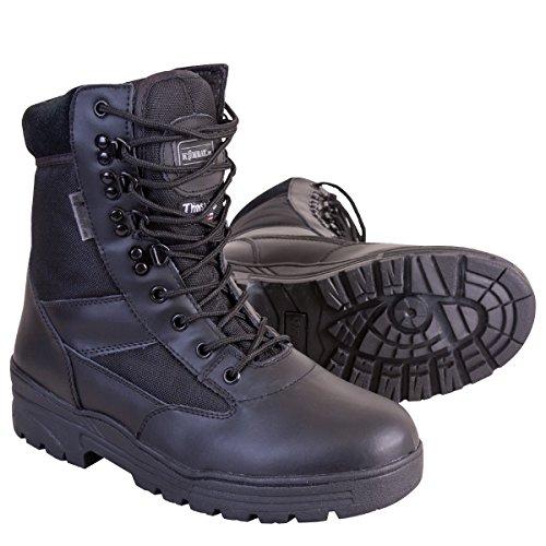 Kombat UK – Botas de Hombre Mitad Piel/Mitad Nailon, Hombre, Half Leather/Half Cordura, Negro