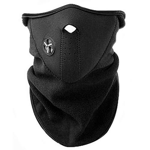AKORD – Máscara con cuello de neopreno para deportes de invierno, color negro, talla única
