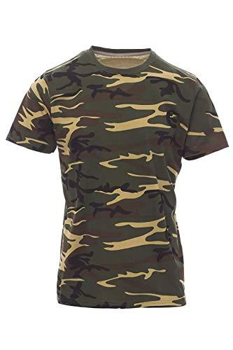 Mivaro Camiseta de Camuflaje para Niños, Camiseta Militar, Farbe:Camouflage, Größe Textil:7-8 Años (122-128cm)