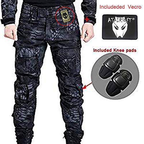 Pantalones De Combate Para Hombres Tipo Uniforme Bdu Uniforme De Batalla Con Rodilleras De Proteccion Ideales