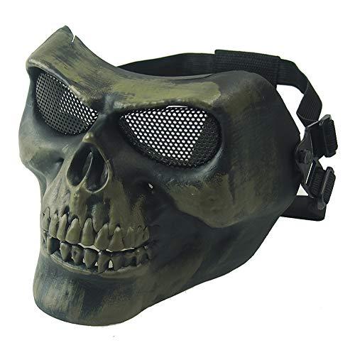 CARACHOME Mascara Airsoft, Militar CS Mascara, Mascara Tactica con Correa Ajustable, Adecuado para BB Pistola Cosplay Caza Paintball Mascarada De Halloween
