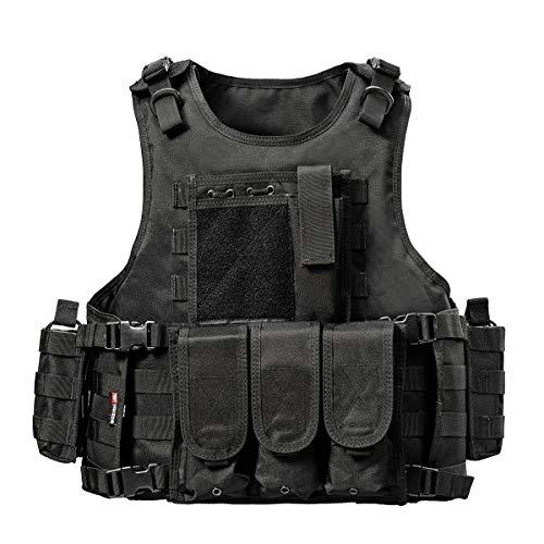 Yakeda® Army-Fans -Chaleco táctico Cs para el aire libre, juego de chaleco cosplay de Counter Strike Vest-322, 322, Negro