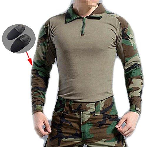 Camiseta de manga larga con coderas AtairSoft BDU para Airsoft, diseño militar, color Camuflaje, tamaño medium