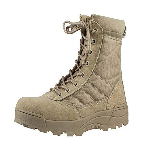 uirend Botas Servicio Militar Calzado Trabajo Zapatos Hombre – Botines Desert Militares Ejército Táctico Al Aire Libre Deportes Cámping Excursionismo