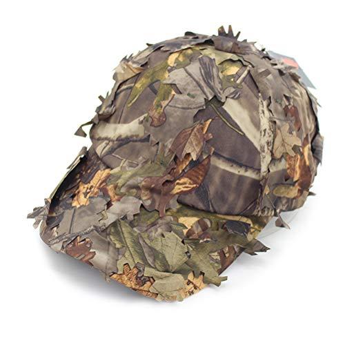 Sombrillas de béisbol, sombreros de ala ancha de ala ancha Hojas 3D Camuflaje Gorras de francotirador Sombreros de francotirador Sombreros de camuflaje de protección solar para pesca Caza Airsoft