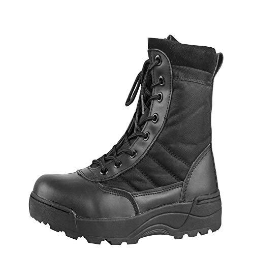 ORANXIN Botas Militares para Hombre – Botines Desert Militares Ejército Tacticas Al Aire Libre Deportes Calzado Trabajo Negro 43 EU