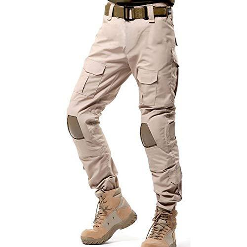 GooDoi Pantalones tácticos Militares Pantalones De Carga BDU Pantalones Airsoft Pantalones Multibolsillos Exteriores Pantalones con Rodilleras